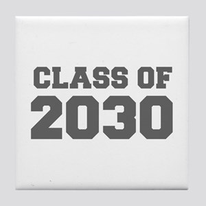 CLASS OF 2030-Fre gray 300 Tile Coaster