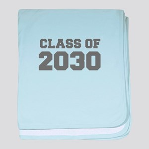 CLASS OF 2030-Fre gray 300 baby blanket
