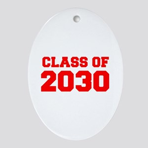 CLASS OF 2030-Fre red 300 Ornament (Oval)