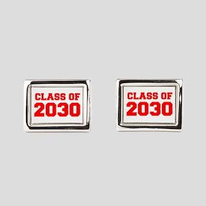 CLASS OF 2030-Fre red 300 Rectangular Cufflinks