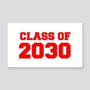 CLASS OF 2030-Fre red 300 Rectangle Car Magnet