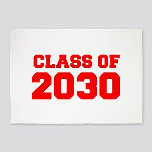 CLASS OF 2030-Fre red 300 5'x7'Area Rug