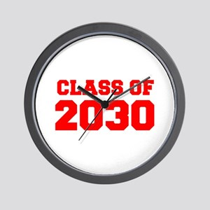 CLASS OF 2030-Fre red 300 Wall Clock