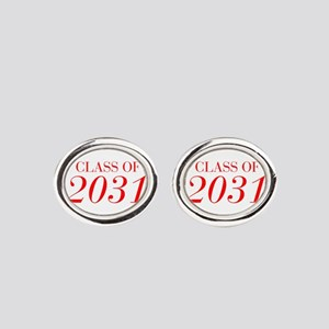 CLASS OF 2031-Bau red 501 Oval Cufflinks