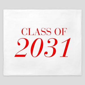 CLASS OF 2031-Bau red 501 King Duvet