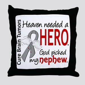 Brain Tumor HeavenNeededHero1 Throw Pillow