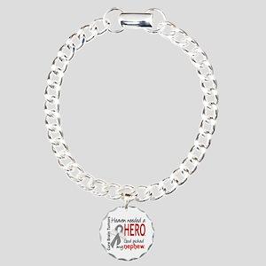 Brain Tumor HeavenNeeded Charm Bracelet, One Charm