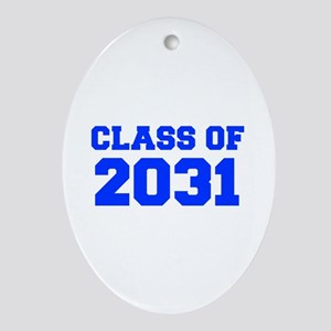 CLASS OF 2031-Fre blue 300 Ornament (Oval)