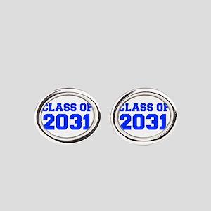 CLASS OF 2031-Fre blue 300 Oval Cufflinks