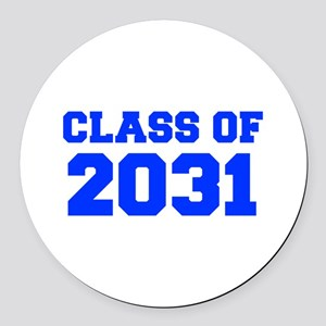CLASS OF 2031-Fre blue 300 Round Car Magnet