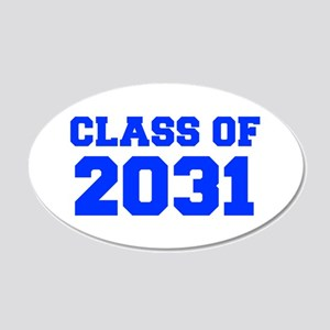 CLASS OF 2031-Fre blue 300 Wall Decal
