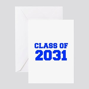 CLASS OF 2031-Fre blue 300 Greeting Cards