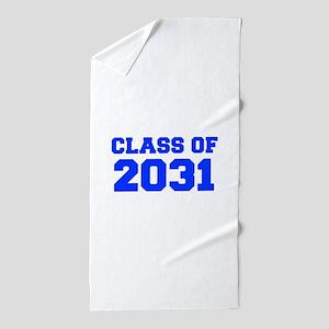 CLASS OF 2031-Fre blue 300 Beach Towel