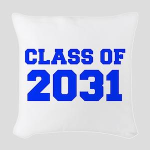CLASS OF 2031-Fre blue 300 Woven Throw Pillow
