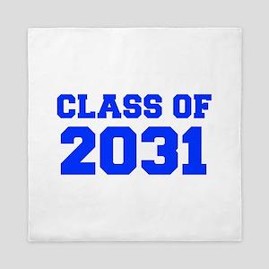 CLASS OF 2031-Fre blue 300 Queen Duvet