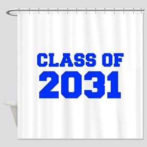 CLASS OF 2031-Fre blue 300 Shower Curtain