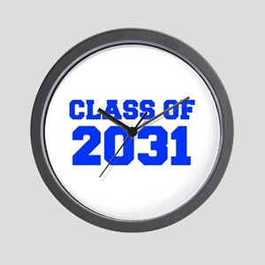 CLASS OF 2031-Fre blue 300 Wall Clock