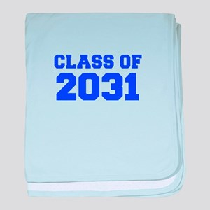 CLASS OF 2031-Fre blue 300 baby blanket