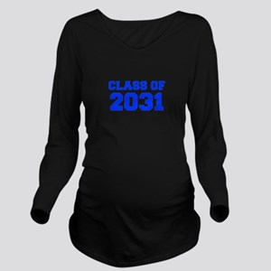 CLASS OF 2031-Fre blue 300 Long Sleeve Maternity T