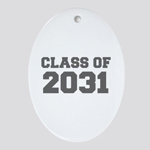 CLASS OF 2031-Fre gray 300 Ornament (Oval)