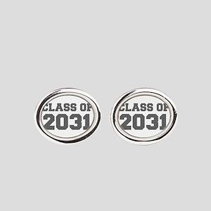 CLASS OF 2031-Fre gray 300 Oval Cufflinks