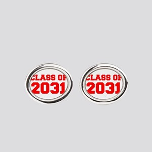 CLASS OF 2031-Fre red 300 Oval Cufflinks