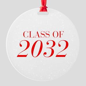 CLASS OF 2032-Bau red 501 Ornament