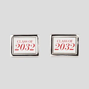 CLASS OF 2032-Bau red 501 Rectangular Cufflinks