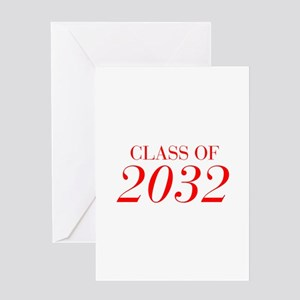 CLASS OF 2032-Bau red 501 Greeting Cards