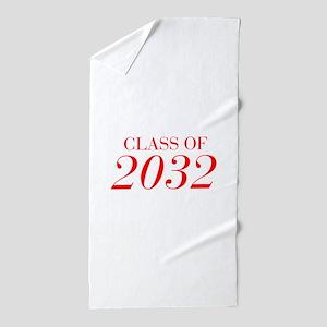CLASS OF 2032-Bau red 501 Beach Towel