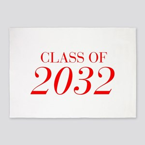 CLASS OF 2032-Bau red 501 5'x7'Area Rug