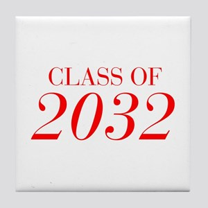 CLASS OF 2032-Bau red 501 Tile Coaster