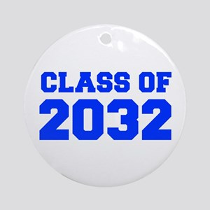 CLASS OF 2032-Fre blue 300 Ornament (Round)