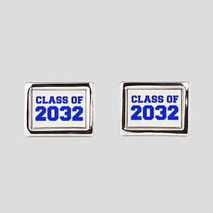 CLASS OF 2032-Fre blue 300 Rectangular Cufflinks