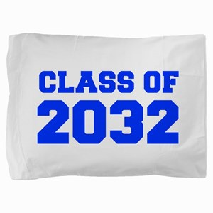 CLASS OF 2032-Fre blue 300 Pillow Sham