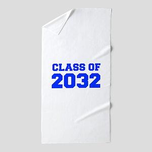 CLASS OF 2032-Fre blue 300 Beach Towel