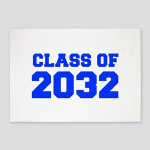 CLASS OF 2032-Fre blue 300 5'x7'Area Rug