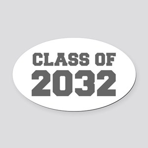 CLASS OF 2032-Fre gray 300 Oval Car Magnet
