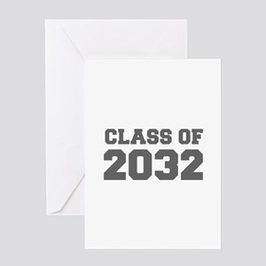 CLASS OF 2032-Fre gray 300 Greeting Cards