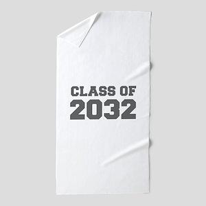 CLASS OF 2032-Fre gray 300 Beach Towel