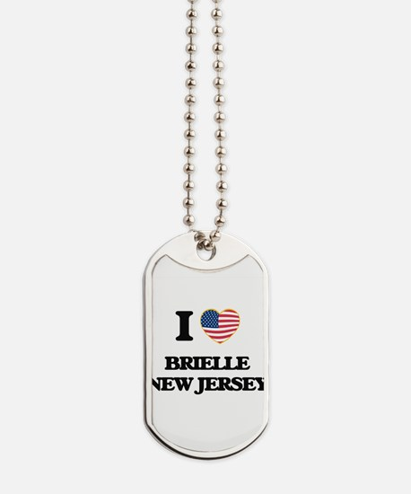 I love Brielle New Jersey Dog Tags