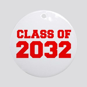 CLASS OF 2032-Fre red 300 Ornament (Round)