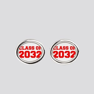 CLASS OF 2032-Fre red 300 Oval Cufflinks