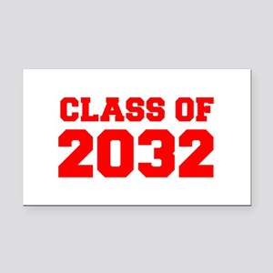 CLASS OF 2032-Fre red 300 Rectangle Car Magnet