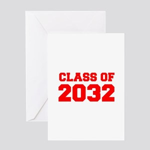 CLASS OF 2032-Fre red 300 Greeting Cards