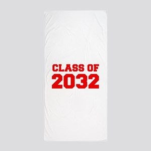 CLASS OF 2032-Fre red 300 Beach Towel