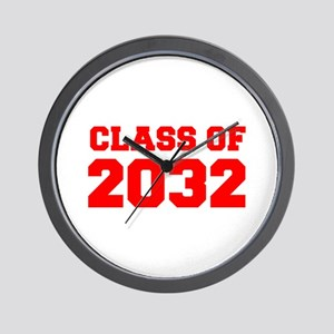 CLASS OF 2032-Fre red 300 Wall Clock
