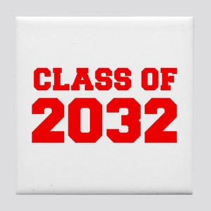 CLASS OF 2032-Fre red 300 Tile Coaster