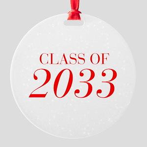 CLASS OF 2033-Bau red 501 Ornament