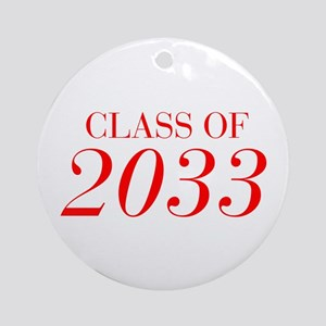CLASS OF 2033-Bau red 501 Ornament (Round)